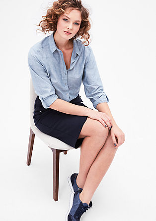 Lightweight chambray shirt blouse from s.Oliver