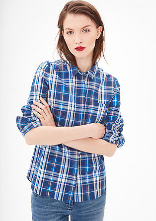 Lightweight check blouse from s.Oliver