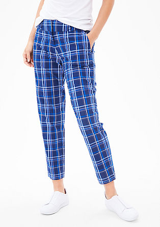 Lightweight check trousers from s.Oliver