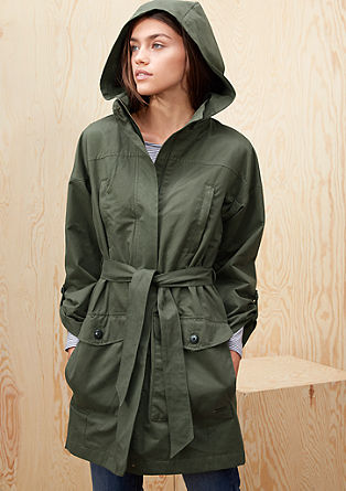 Lightweight cotton coat with a belt from s.Oliver