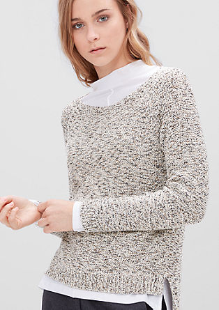 Lightweight crocheted jumper from s.Oliver