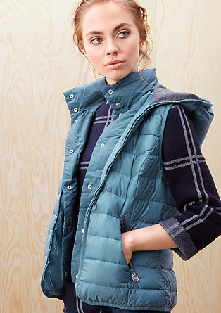 Lightweight down body warmer with a hood from s.Oliver