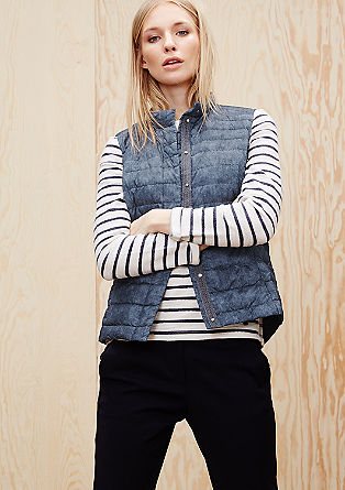 Lightweight down gilet in a denim look from s.Oliver