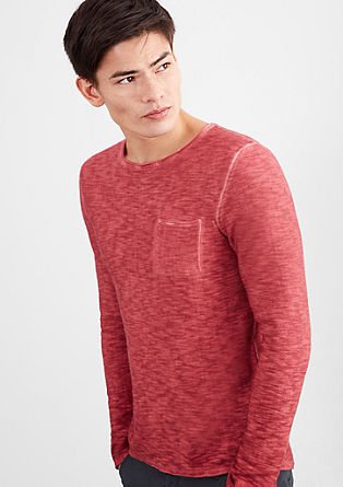 Lightweight garment-dyed knitted jumper from s.Oliver