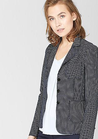 Lightweight jacquard blazer from s.Oliver