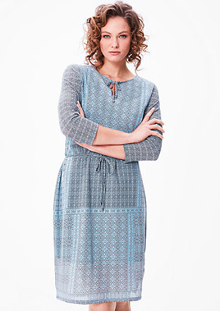 Lightweight mesh dress with a pattern from s.Oliver