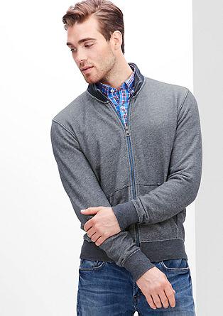 Lightweight mottled sweatshirt jacket from s.Oliver