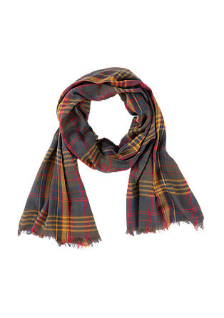 Lightweight scarf with a check pattern from s.Oliver