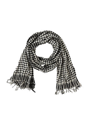 Lightweight scarf with a houndstooth check pattern from s.Oliver