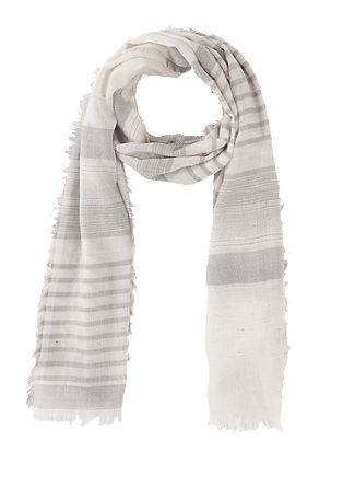 Lightweight scarf with a woven pattern from s.Oliver