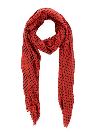 Lightweight scarf with an all-over print from s.Oliver