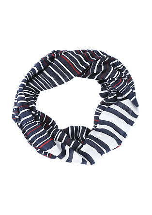 Lightweight snood with stripes from s.Oliver
