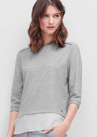 Lightweight sweatshirt in a layered look from s.Oliver