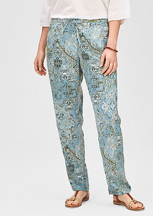 Lightweight trousers with an all-over print from s.Oliver