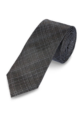 Linear check silk tie from s.Oliver