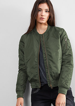 Lined aviator jacket from s.Oliver