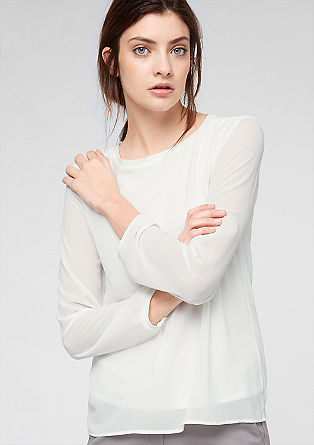 Lined chiffon blouse from s.Oliver
