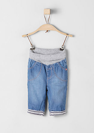 Lined jeans with a ribbed waistband from s.Oliver