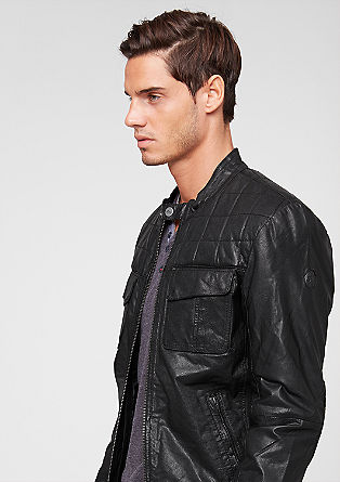 Lined leather jacket from s.Oliver