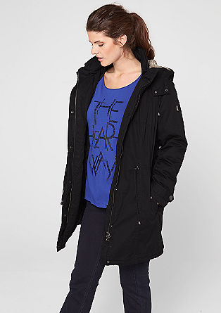 Lined parka with a fur hood from s.Oliver