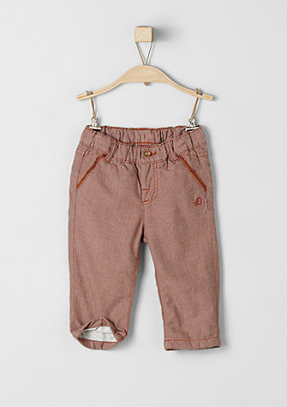 Lined woven trousers from s.Oliver
