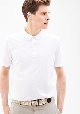 Linen blend polo shirt from s.Oliver