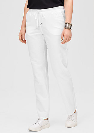 Linen blend trousers from s.Oliver