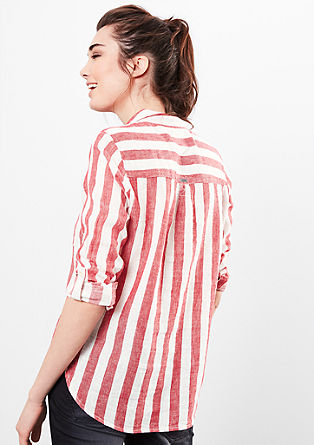 Linen blouse with stripes from s.Oliver