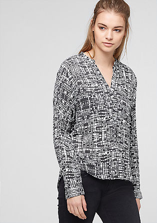 Lockere Bluse mit Allover-Print