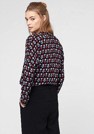 Lockere Bluse mit Allover-Print