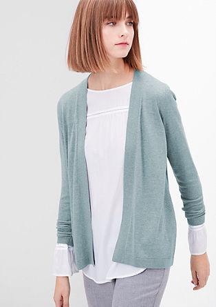 Lockere Strickjacke mit Wolle