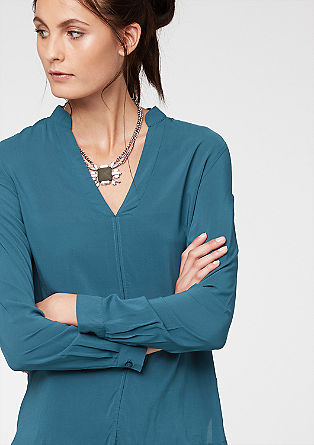 Lockere Tunikabluse aus Viskose