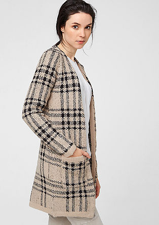 Long, patterned cardigan from s.Oliver