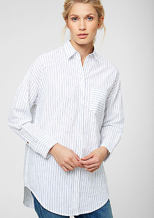 Long, striped shirt blouse from s.Oliver