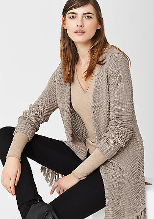 Long, textured knit cardigan from s.Oliver