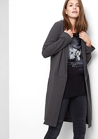 Long blazer in textured crêpe fabric from s.Oliver