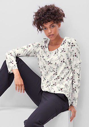 Long blouse with a floral print from s.Oliver