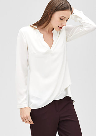 Long blouse with a layered effect from s.Oliver