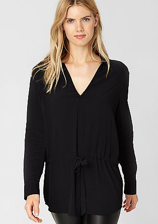 Long blouse with a tie-around belt from s.Oliver