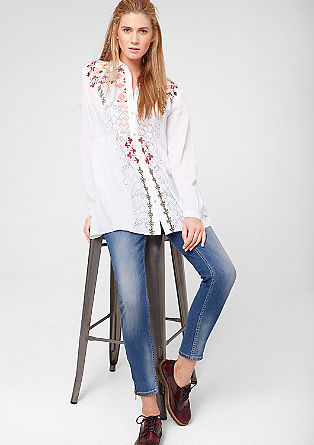 Long blouse with ethnic embroidery from s.Oliver