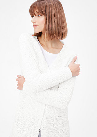 Long bouclé cardigan from s.Oliver