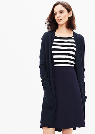 Long cardigan in a double-faced knit from s.Oliver