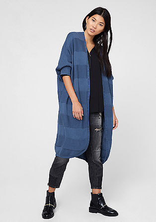 Long cardigan in a mix of textures from s.Oliver