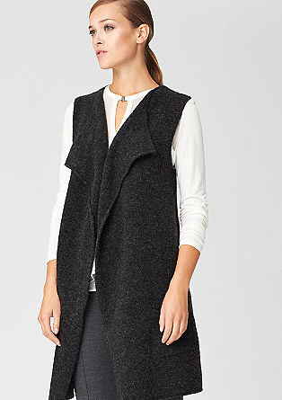 Long cardigan in a wool blend from s.Oliver