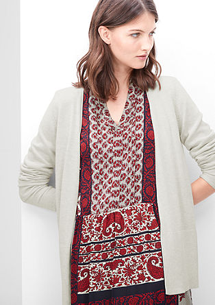 Long cardigan in blended viscose from s.Oliver