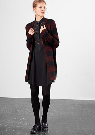 Long cardigan in blended wool from s.Oliver