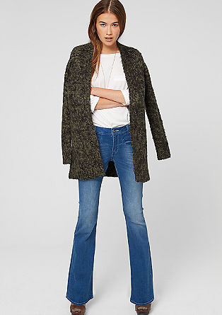 Long cardigan in mottled bouclé from s.Oliver