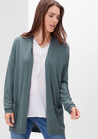 Long-Cardigan mit Taschen