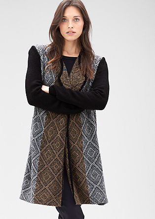 Long cardigan with a diamond pattern from s.Oliver