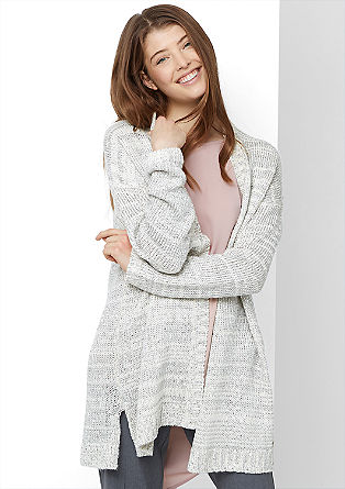 Long cardigan with a glitter effect from s.Oliver